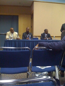 Sports Seminar including David Aldridge (far right) from TNT